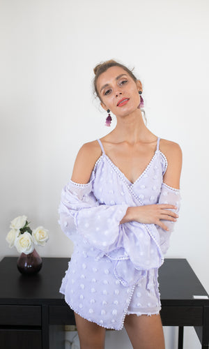 ROXA LILAC PLAYSUIT/ROMPER - DRESS - Koogal.com.au