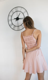 LOLLIPOP MINI LACE DRESS IN DUSTY PINK - DRESS - Koogal.com.au