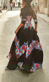 FOXY DEEP V NECK MAXI DRESS - DRESS - Koogal.com.au