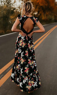FIFI BACKLESS MAXI BOHO BEACH DRESS - DRESS - Koogal.com.au