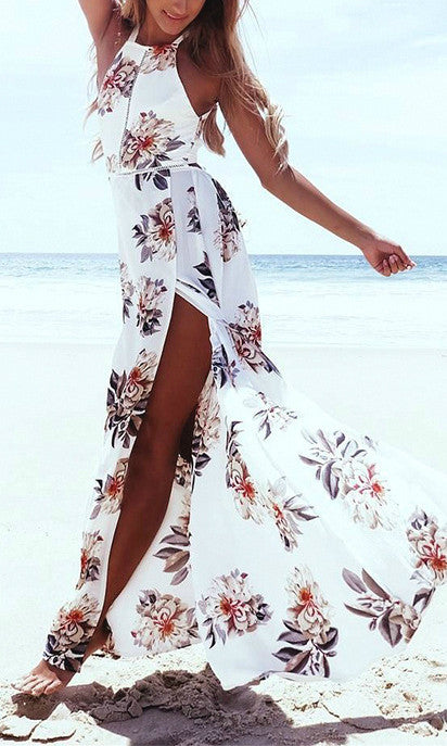 ANITA FLORAL MAXI BACKLESS DRESS - DRESS - Koogal.com.au