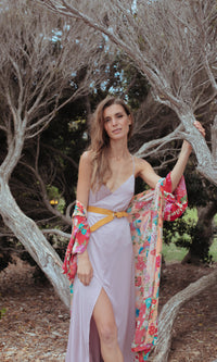 BLUSH PINK WRAP MAXI DRESS - DRESS - Koogal.com.au