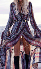 GYPSY MAXI WRAP DRESS