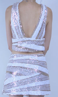 WILD HORSE FESTIVAL SEQUIN CROP TOP - BOTTOMS - Koogal.com.au