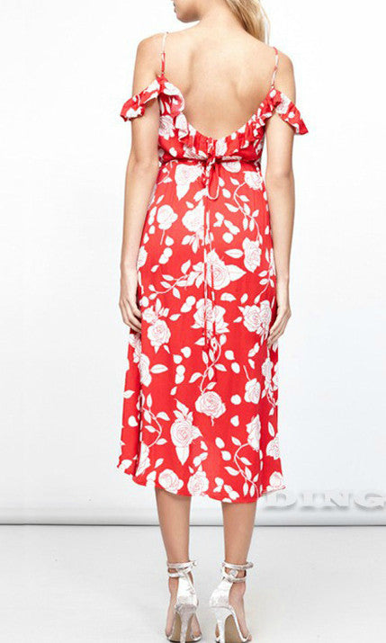 NIOLA MIDI WRAP DRESS IN FLORAL