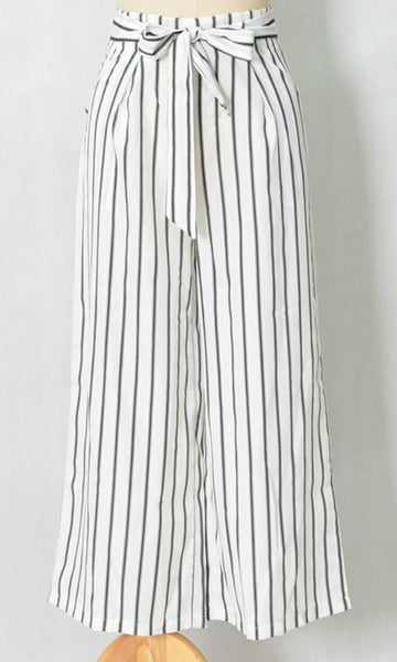 HIGH WAISTED WIDE LEG STRIPE PANTS