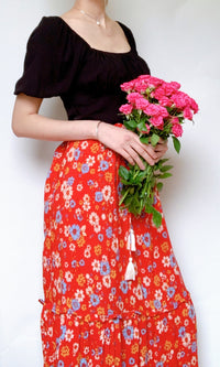 SPRING LOVING BOHEMIAN MAXI SKIRT - BOTTOMS - Koogal.com.au