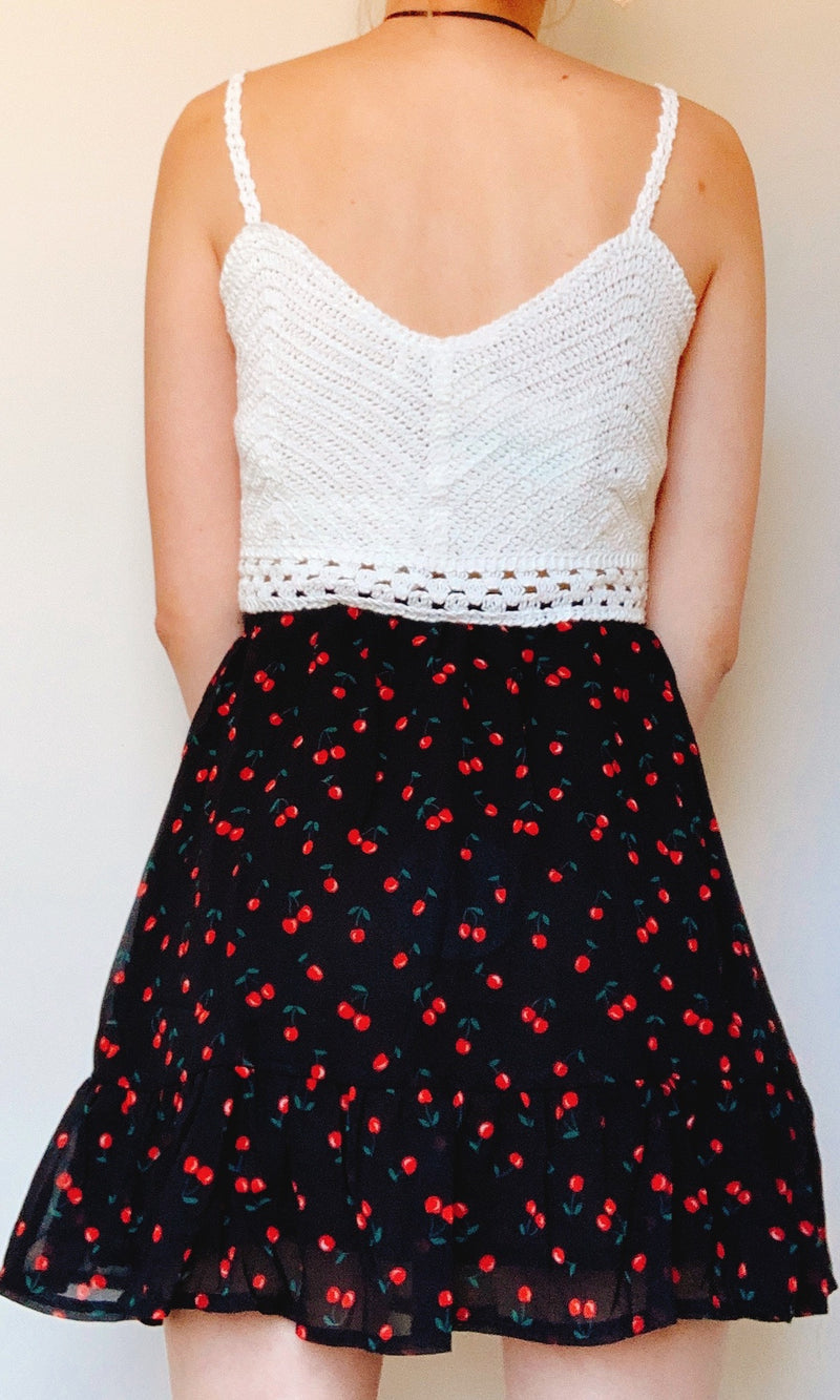 DINA CROCHET CROP TOP in WHITE - TOP - Koogal.com.au