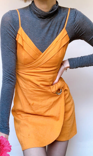 TARA MINI DRESS in MUSTARD - DRESS - Koogal.com.au