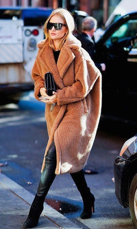 Teddy Fuzzy Faux Fur Overcoat - cardigan - Koogal.com.au