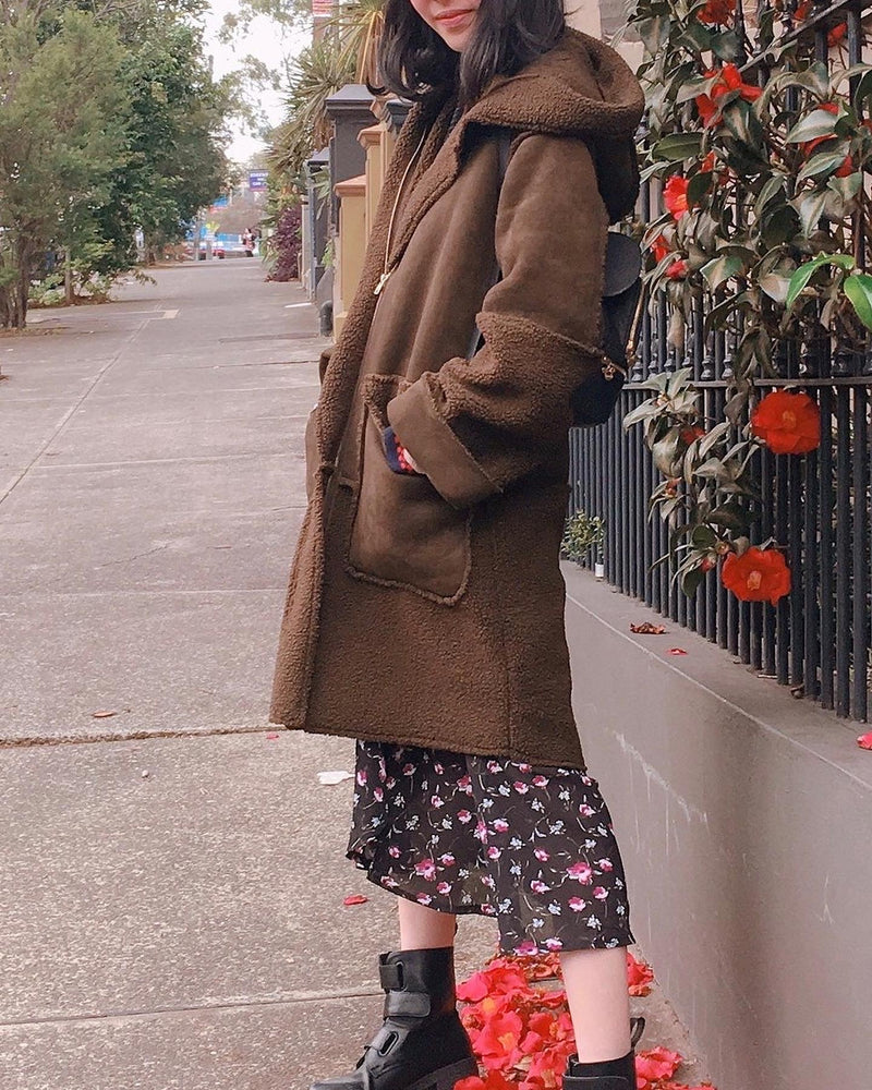 ARMY GREEN HOODED COAT -  - Koogal.com.au
