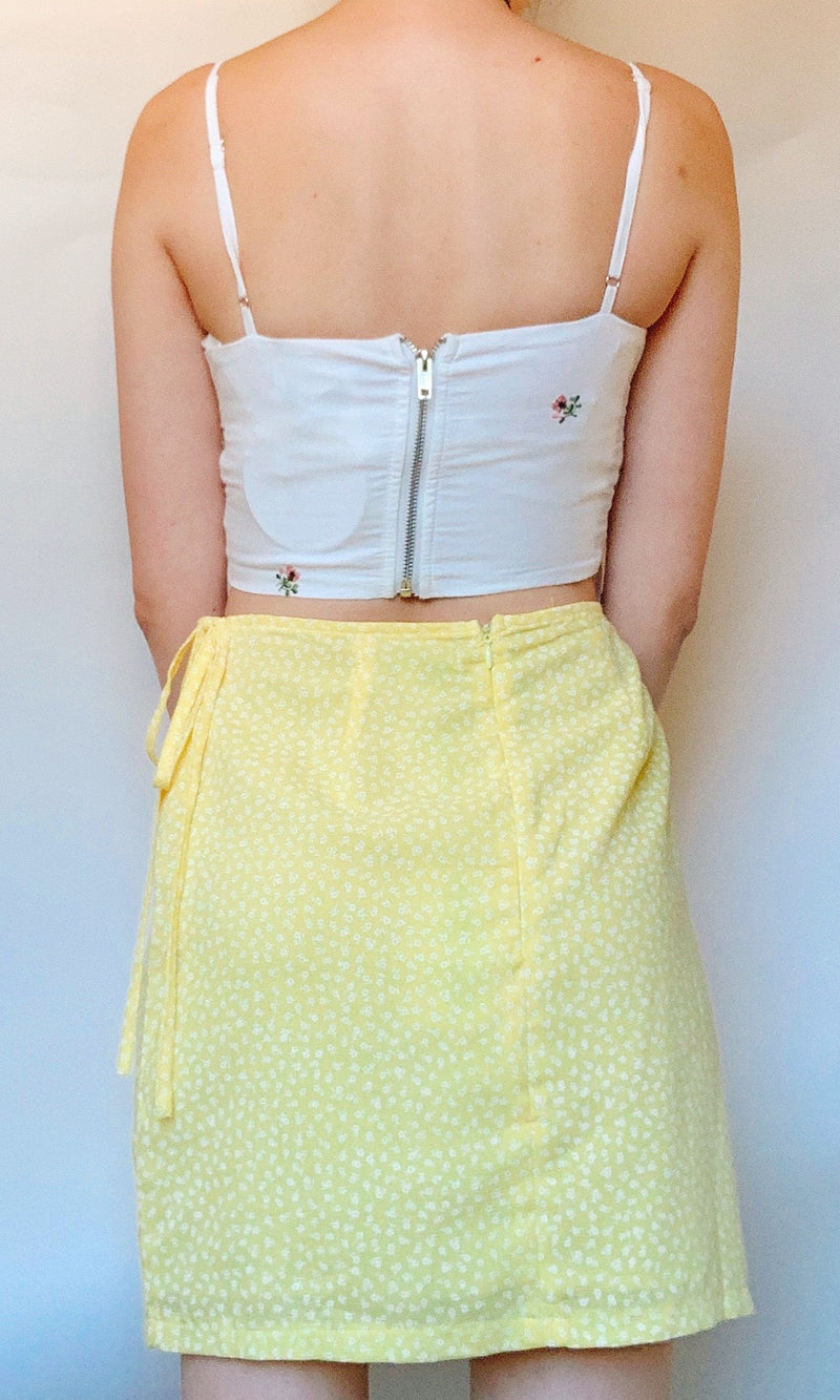 LEMON TREE MINI SKIRT IN YELLOW - BOTTOMS - Koogal.com.au