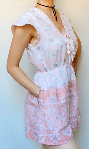 BETTY MINI SHORT SLEEVE JUMPSUIT IN PINK - DRESS - Koogal.com.au