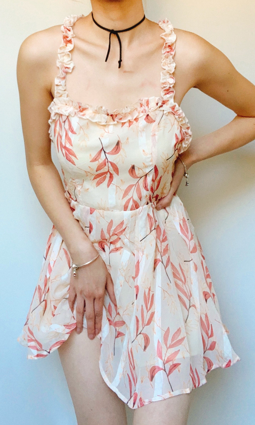 ABELIA FLORAL MINI SHORT JUMPSUIT IN PINK - DRESS - Koogal.com.au
