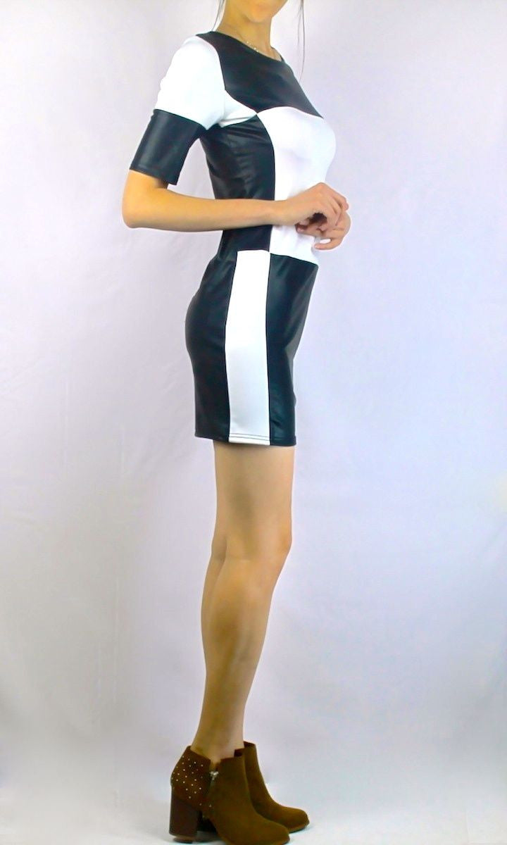 ZEN LEATHER BODYCON DRESS