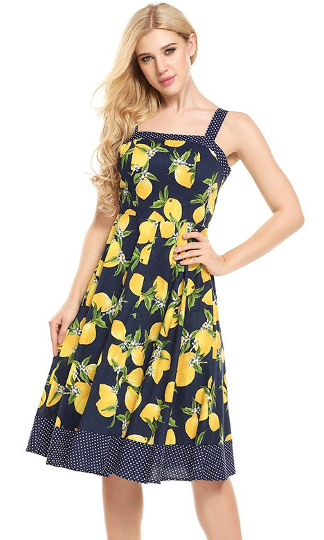 LEMONADE VINTAGE INSPIRED SWING DRESS