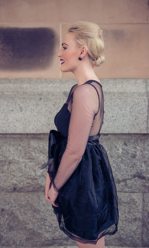 POISON BLACK SHEER BACK DRESS - DRESS - Koogal.com.au