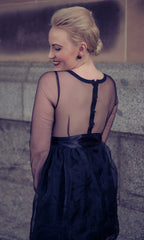 POISON BLACK SHEER BACK DRESS