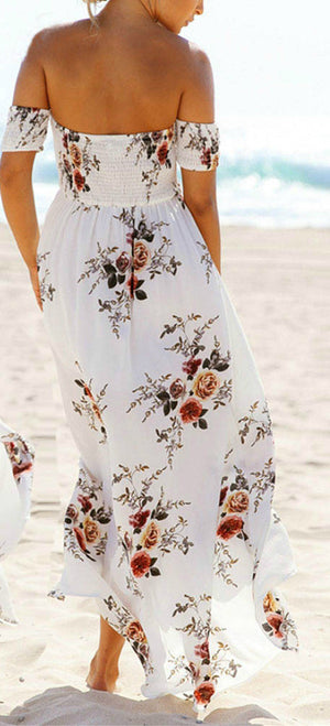 TASH OFF THE SHOULDER MAXI DRESS - Koogal