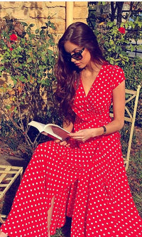 red-maxi-dress-polka-dot-koogal