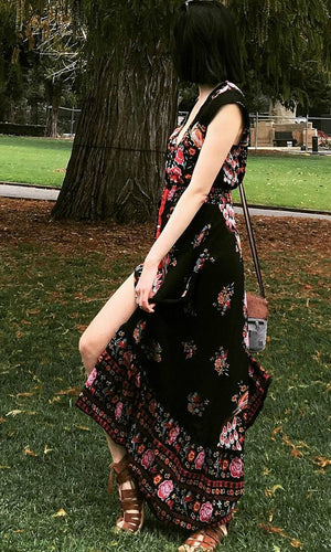 ROSE GARDEN HIGH LOW MAXI DRESS - DRESS - Koogal.com.au