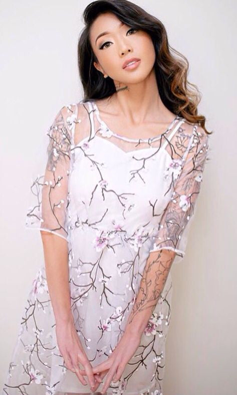 SAKURA SHEER DRESS - Koogal