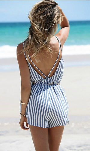 SWEET TREAT BACKLESS SHORT JUMPSUIT - DRESS - Koogal.com.au