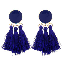 TRIBE PRIDE LONG TASSEL EARRINGS