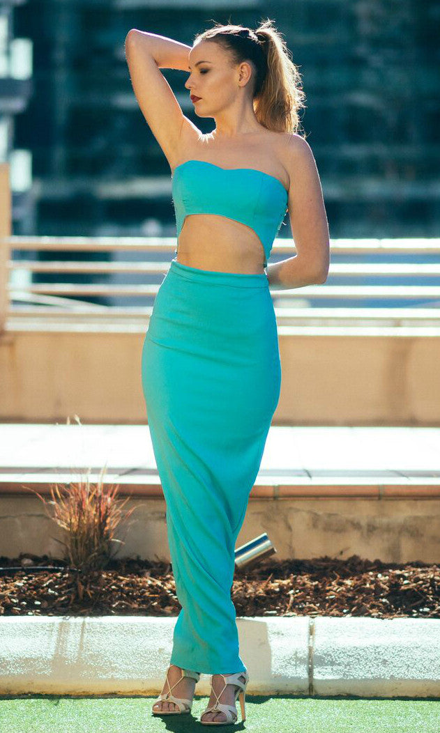 MINTY BLUE DRESS SET (top and skirt)
