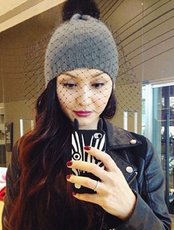 63889714191 VEIL BEANIE in GREY - accessories - Koogal.com.au