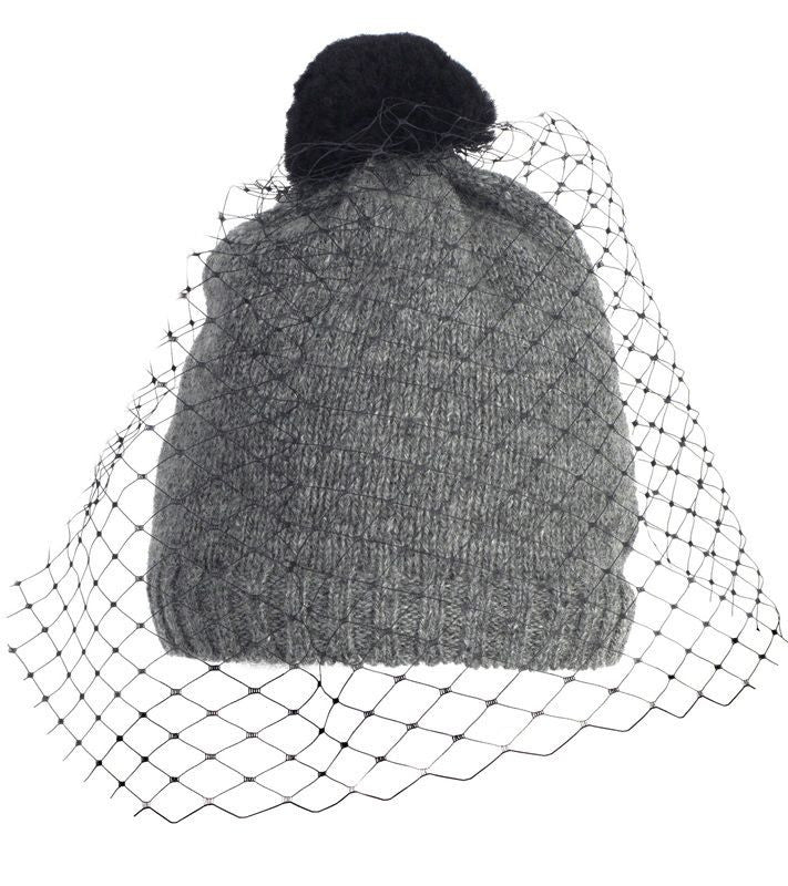 VEIL BEANIE in GREY - accessories - Koogal.com.au