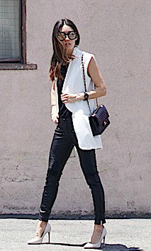 WHITE SLEEVELESS VEST