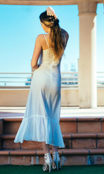 TARYN MAXI DRESS in WHITE