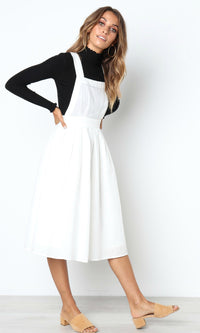 PINAFORE LINEN MIDI DRESS