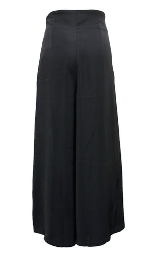 SANDRA HIGH WAISTED WIDE LEG PANTS in BLACK