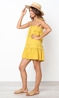 SASSY SUNSHINE YELLOW MINI DRESS