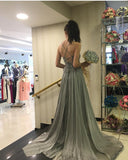Custom Made Simple Chiffon Prom Dress Formal A-Line Lace Up Evening Dress PD107