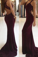 Custom Made Sexy Open Back Prom Dress with Appliques Fashion Long Mermaid Evening Dress PD200