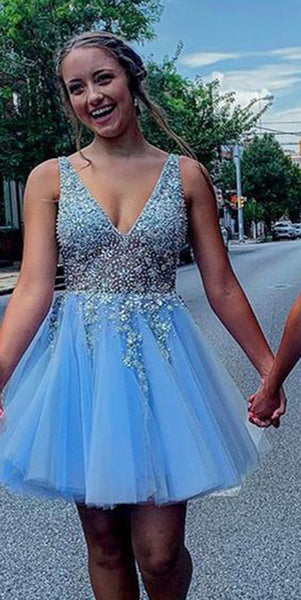 Sparkly Beaded Short Homecoming Dresses 2020, Custom Made Cocktail Dresses, Fashion Short School Dance Dresses, Sweet 16th Dresses, HD238