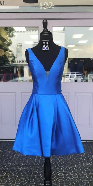 2020 Short Royal Blue Homecoming Dress Custom Made Cute Cocktail Dress Fashion Short School Dance Dresses Sweet 16th Dresses HD220