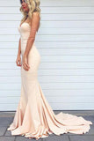 Sweetheart Sweep Train Prom Dress  Mermaid Evening Dress PD001