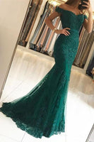 Fashion Beaded Lace Prom Dress Elegant Long Swetheart Mermaid Appliques Tulle Evening Dress PD117