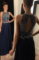 Fashion Beaded Chiffon Prom Dress Custom Made Long Beadings Wedding Party Dress PD170