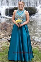 Discount Fashion Satin Beading Long Prom Dress Custom Made Beaded Long Homecoming Dress PD140
