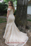 Discount Fashion Beaded Appliques Long Prom Dress Custom Made Mermaid Wedding Party Dress PD157