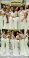 Mermaid Long Off Shoulder Bridesmaid Dress with Appliques Custom Made Fashion Long Wedding Party Dresses BD119