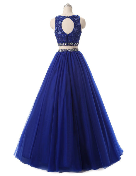 c1bd49eaf73 ... Fashion Two Piece Beaded Appliques Prom Dress Custom Made 2 Pieces Long  Homecoming Dress PD161 ...