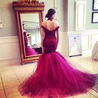 Elegant Sweetheart Tulle Lace Prom Dress Fashion Mermaid Evening Dress PD077