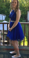 Discount Custom Made Short Beaded Appliques Homecoming Dress Sweet Graduation Party Dress HD047