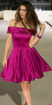 Simple Off Shoulder Short Prom Dress Custom Made Short Homecoming Dress Fashion Short School Dance Dress PDS057